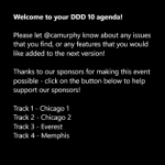 DDD10 Windows Phone Agenda application