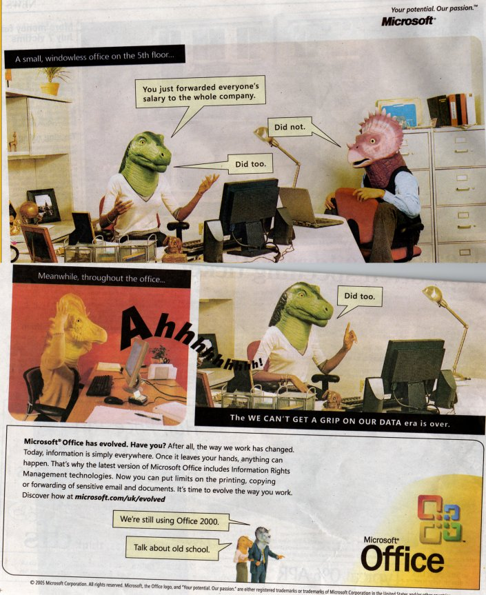 Microsoft Office advert